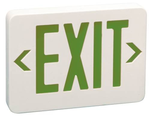 Monument 617117 Light Green LED Exit Sign, AC Only