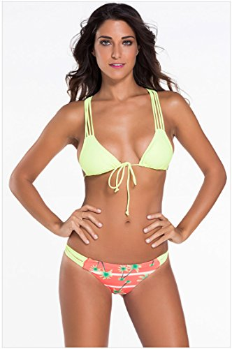 Multi Cadena trenzado Racer Back Palm Beach Bikini