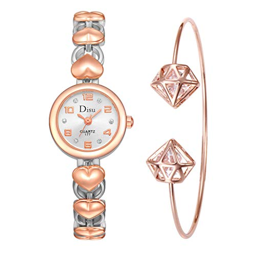 (Light Luxury Girl Temperament Watch Chain Watch Gift Wristwatches Bangle Watch and Bracelet Set (Multicolor))