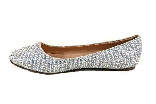 s16a Sølv Sko Diamante 1 8 3 Bryllup Kvinners Størrelse Brude Sparkly På Damene Slip 4 7 5 6 Pumper Nye Brudepike qUHxzRw