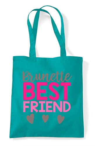 Matching Shopper Brunette Friends Friend Emerald Bag Tote Statement Best Bff wqZIrqU6