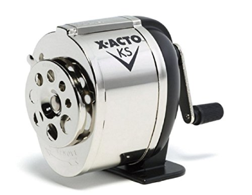 Pencil Sharpener Boston Manual Table - Wall Mount School Hand Crank Desktop Chrome, New!!!