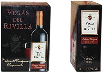 Bag in Box Vino TINTO Extremeño de Vegas del Rivilla 1 CAJA DE 5 LITROS: Amazon.es: Alimentación y bebidas