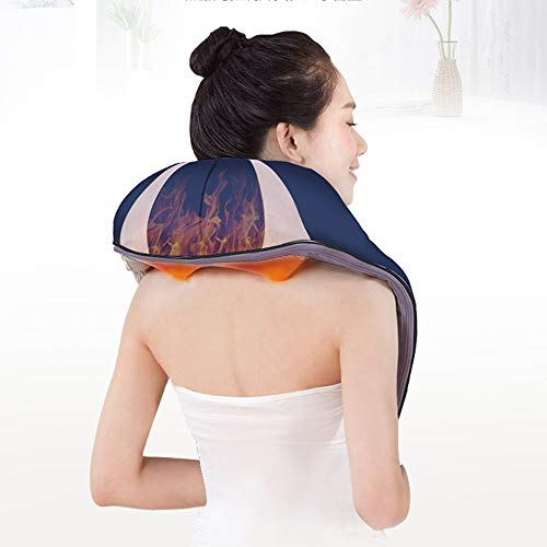 GAOQQ Shiatsu Back Neck and Shoulder Massager with Heat and Timing Function Deep Kneading Massage Shawl for Office Home Car Use by GAOQQ (Image #7)