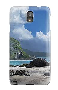Hot Style QyFxpQj562qVGIj Protective Case Cover For Galaxynote 3(nice Beach And Blue Sky )