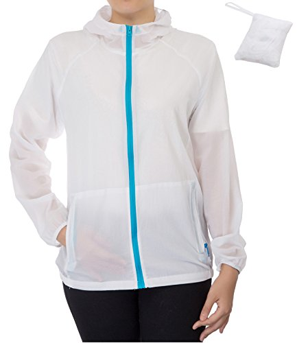 JACK SMITH Ladies Sport Anorak White Running Hoody (XL,White ()