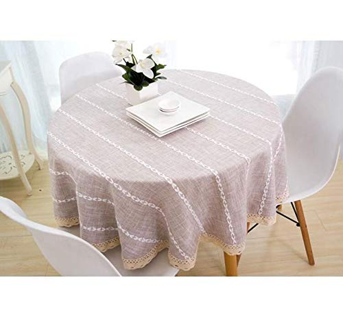 marron-a 100CM Nappe, nappes en lin et coton Couvertures en lin pour table rectangulaire (Couleur   marron-a, taille   190CM)