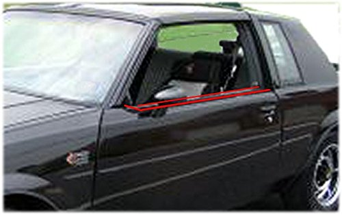 Door Buick Seals (Inner & Outer Window Sweep Felts Seals Weatherstrip 4 Piece Kit Set for Buick)