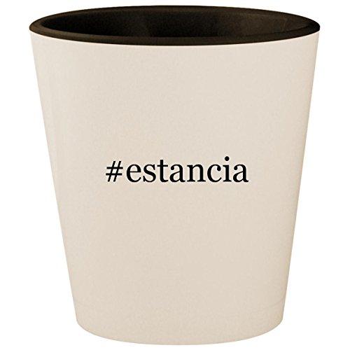 Grigio Estancia Pinot - #estancia - Hashtag White Outer & Black Inner Ceramic 1.5oz Shot Glass