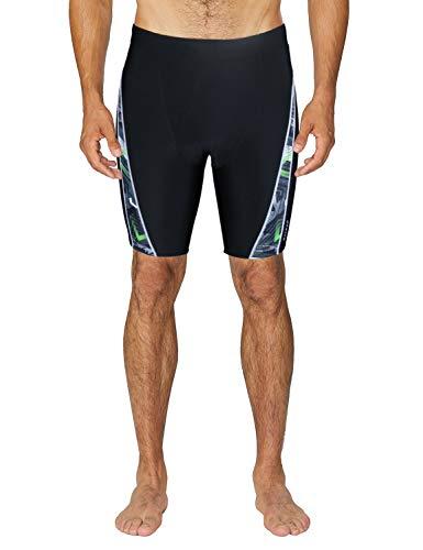 - Baleaf Men's Athletic Durable Training Square Leg Quick Dry Endurance Jammer Swimsuit Black XS