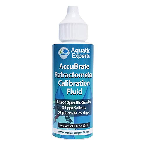 AccuBrate Refractometer Salinity Calibration Fluid - 60 ml Solution to Accurately Calibrate Refractometer for Testing Natural Saltwater or Synthetic Sea Water - Made in the USA (60 ml)