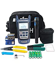 Kit de herramientas de fibra óptica con medidor de potencia óptica y localizador visual de fallas y cortador de cables y filtro de Alambre herramienta de equipo multifunción