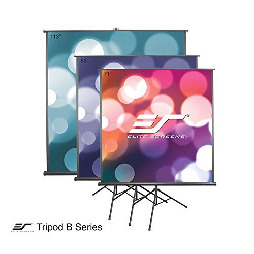 Elite Portable Tripod (Elite Screens TRIPOD B, 85-INCH, 1:1, Lightweight Pull Up Foldable Stand, Manual, Movie Home Theater Projector Screen, 4K / 8K Ultra HDR 3D Ready, 2-YEAR WARRANTY, T85SB)