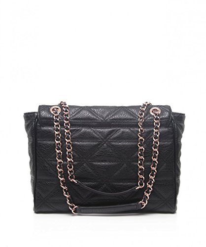 66f57684d5 Vivienne Westwood Accessories Large Shoulder Bag Black Quilted Chain Black  Size: Unique Size: Amazon.co.uk: Shoes & Bags