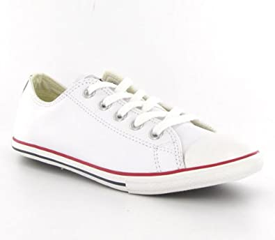 f081026a0c1bcb Converse Ct All Star Slim Leather Lo White Womens Trainers Size 7 ...