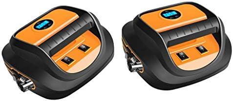 H HILABEE 車用 インフレータブル ポンプ 空気入れ エアコンプレッサー 12V 静音 電動ポンプ