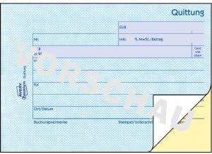 AVERY Zweckform 20 x Formularbuch Quittung A6 quer selbstdurchschreibend VE=2x40 Blatt