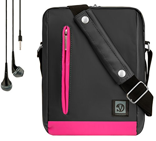 Vangoddy Adler Shoulder Bag Travel Case For Amazon Tablets (Fire, Kindle Fire, HDX, HD) + Handsfree Earphones ()