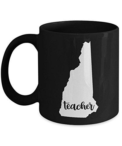 New Hampshire Teacher Home State - Back To School - Teacher Day Coffee Mug Gift 11oz Ceramic Black