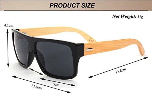 Gafas Hombre con Mujer Sol Montura Bambu Simil de 4517 Ultravioleta UV400 Diseño RwrROqAxn