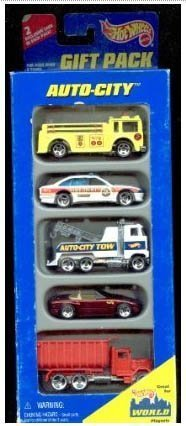 Auto Hot Wheels (Hot Wheels 1995 Auto-city Gift Pack 1:64 Scale)
