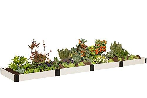 """UPC 738432249321, Frame It All 300001403 Composite Raised Garden Bed Kit, 4' x 16' x 8"""", White"""