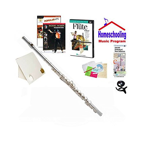 RS Berkeley Homeschool Music Pack for Beginner Flute - (Michael Jackson Pop Music Book Bundle) - Includes Student Flute w/Case, DVD, Books & All-Inclusive Learning Essentials ()