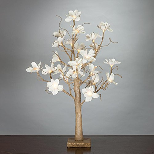 Magnolia Centerpiece (Everlasting Glow 93757 24L Magnolia Table Top Tree, 4.33