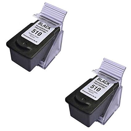 Prestige Cartridge 2 XL Negro Compatibles PG-510 Cartuchos de Tinta para Canon Pixma iP2700 iP2702 MP230 MP240 MP250 MP260 MP270 MP280 MP480 MP490 ...
