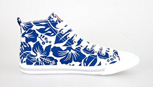 Prada Montantes Femme en Toile Blanc/Bleu foncé - Code Modèle: 3T5731 3O81 F0P41 Bleu Foncé ATrGQ