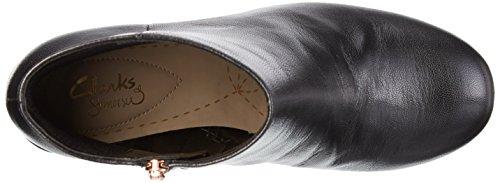 May Clarks Leather Black para Negro Efecto Botas Arrugado Barley Mujer wg5nqg6x1