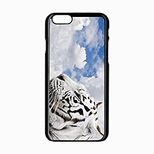 iPhone 6 Black Hardshell Case 4.7inch tiger sky predator Desin Images Protector Back Cover