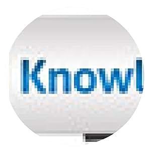 alfombrilla de ratón El conocimiento es poder Azul Gris Horizontal - ronda - 20cm