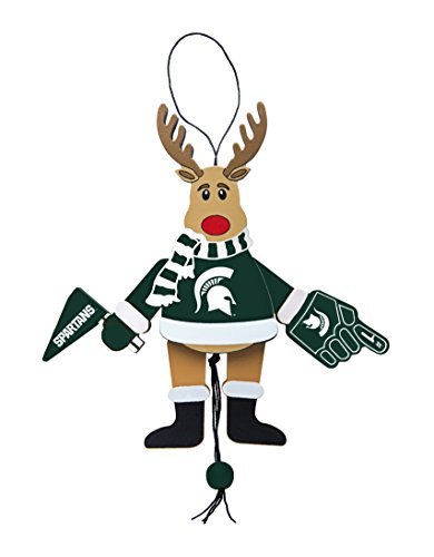 Michigan State Spartans Ornaments (NCAA Michigan State Spartans Wooden Cheer Ornament)