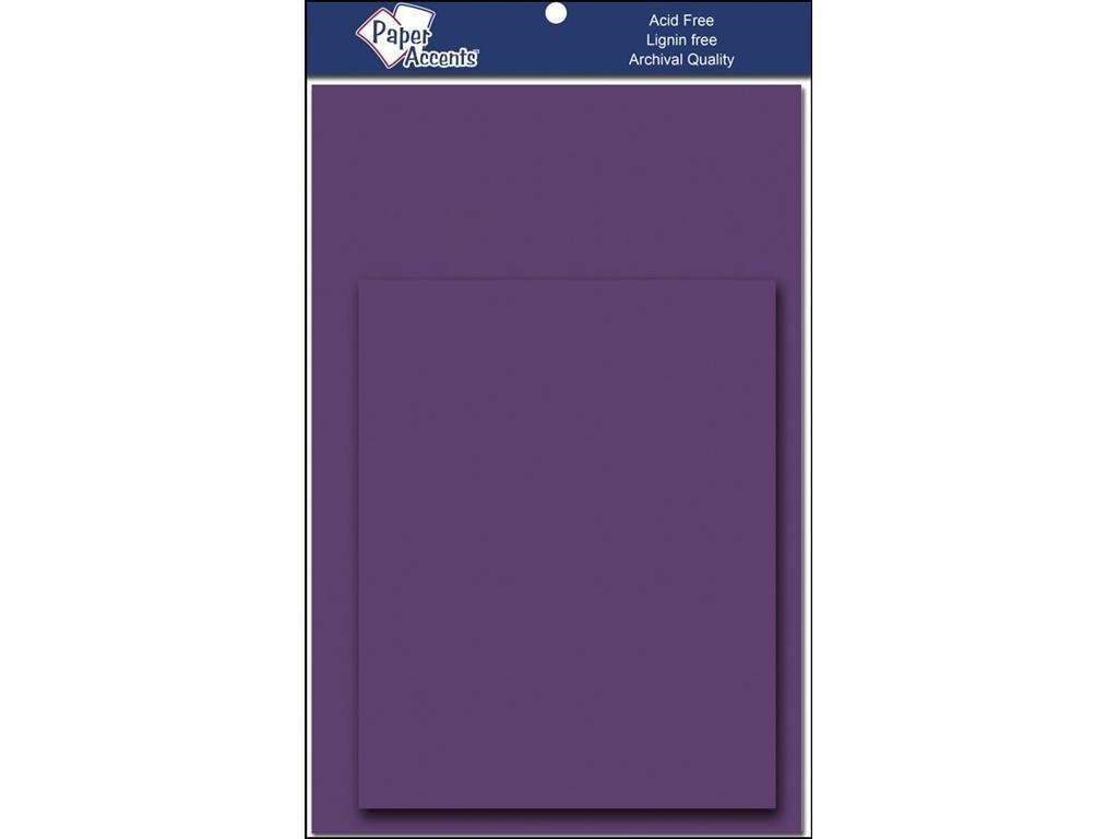 アクセントデザイン ペーパーアクセント 4.25x5.5 カード&Env グレープソーダ B01NCORAHF