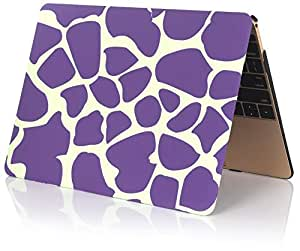 Rubberized Hard Shell Case Cover For Macbook Pro with Retina Display 12 Inch - Deer Purple