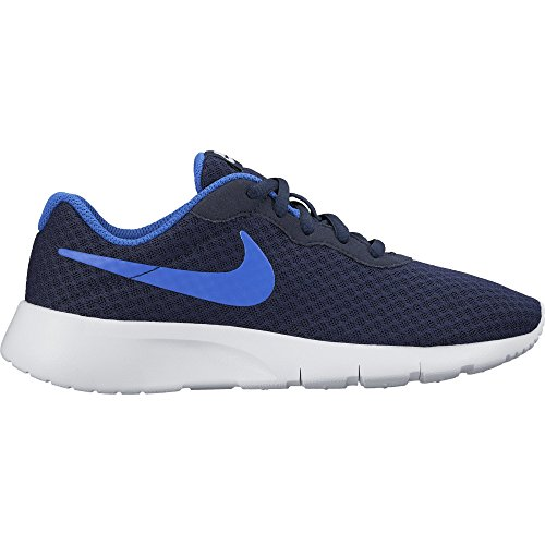 Nike Tanjun (Gs), Zapatillas de Running para Niños Negro / Azul / Blanco (Obsidian / Racer Blue-White)