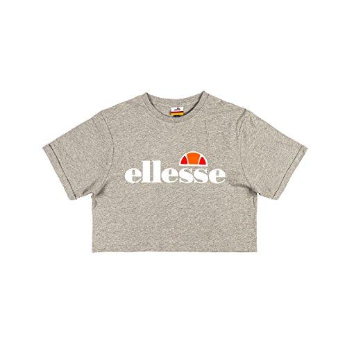 ellesse Women T-Shirt Alberta Crop Top SGS04484, Color:ath Grey Marl, Size:10(S)