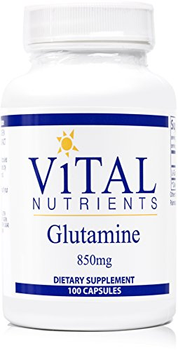 Vital Nutrients - Glutamine 850 mg - Gastrointestinal and Immune Support - 100 Capsules