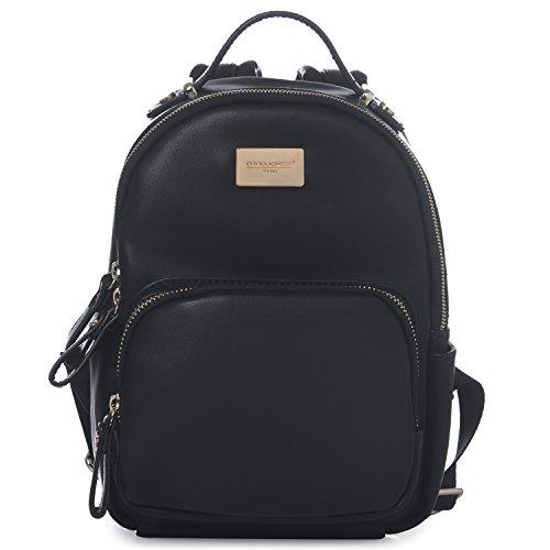 DAVID - JONES INTERNATIONAL Black Classic Girls Mini Vegan Leather Backpack Shoulder Bag for woman by DAVID - JONES INTERNATIONAL.