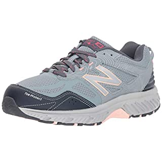 New Balance Women's 510 V4 Trail Running Shoe, Cyclone/Thunder/Himalayan Pink, 5 W US