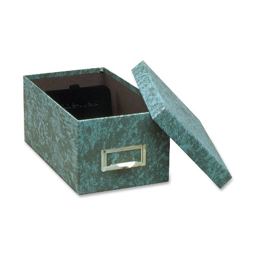 Globe-Weis/Pendaflex Fiberboard Index Card Storage Box, 4 x 6 Inches, Green (94 GRE)