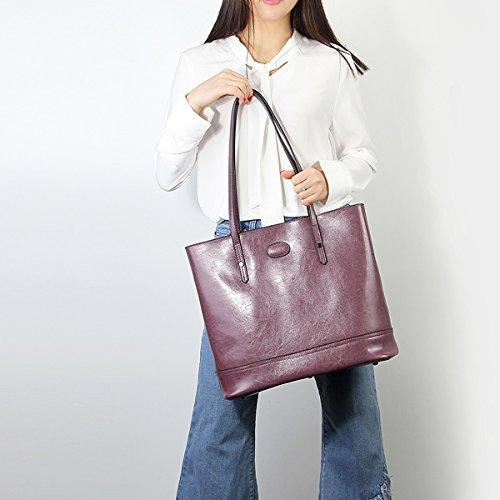 portés Sac à portés en épaule femme 8956 Violet Sac main main Sac cuir fashion LF DISSA AOqRxwUA