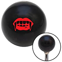 American Shifter 107838 Black Shift Knob with M16 x 1.5 Insert (Red Mouth with Fangs)