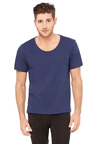 Bella + Canvas Jersey Wide Neck T-Shirt (3406) Navy, L