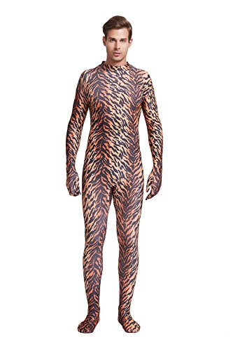Full Bodysuit Unisex Adult Costume Without Hood Lycra Spandex Stretch Zentai Unitard Body Suit (Large, -