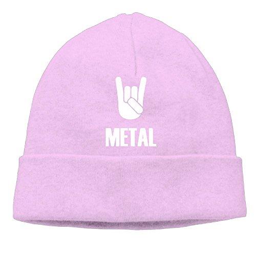 Richard Lyons Mens Heavy Metal Warm Travel Pink Beanies Tough (Bun Warmer Shelf)