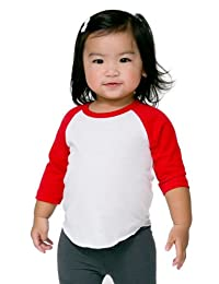 American Apparel Infant Poly-Cotton 3/4 Sleeve Raglan