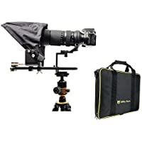 Glide Gear TMP 500 Universal Video Camera Tripod Teleprompter 15mm Rails w/Carry Case
