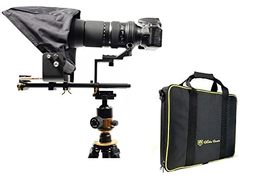 Glide Gear TMP 500 Universal Video Camera Tripod / Shoulder Rig Teleprompter 15mm Rails w/ Carry Case by Glide Gear
